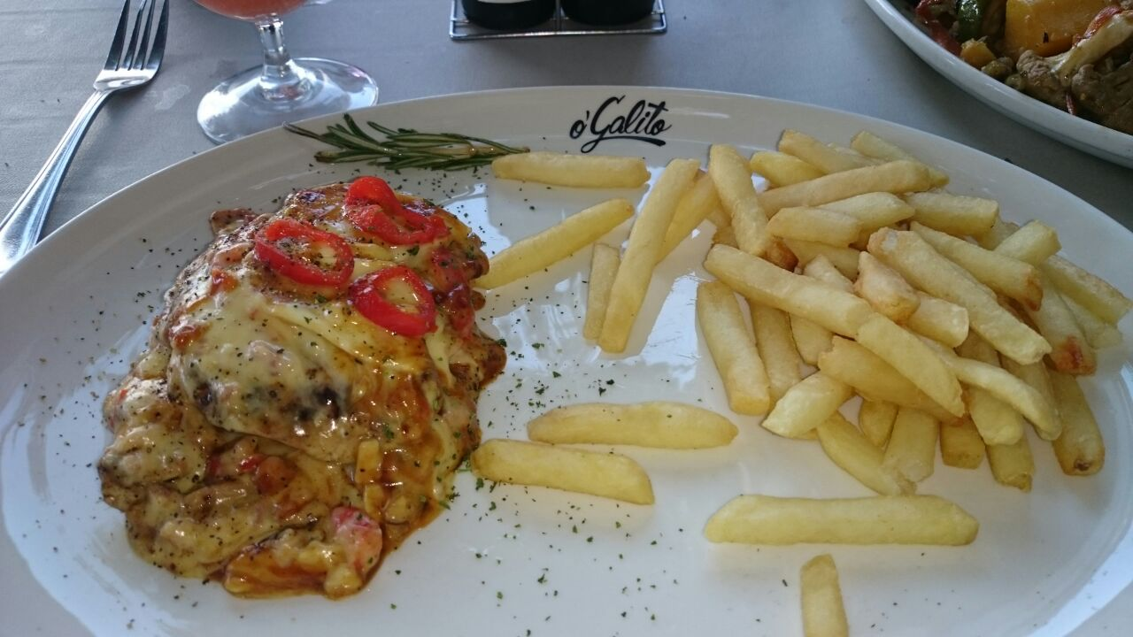 A chicken dish from O'Galito restaurant at Centurion Mall. Photo by SL