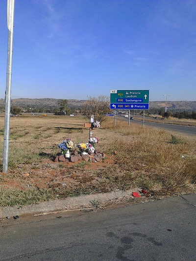 Remembering road casualties. Photo by Phindiwe Nkosi