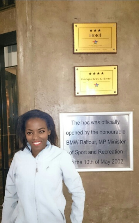 Phindiwe Nkosi at the University of Pretoria's High Performance Centre in Hatfield, Pretoria. Photo by SL.