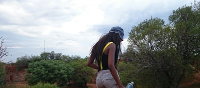 Phindiwe Nkosi at the Wonderboom Nature Reserve in Pretoria