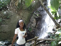 Phindiwe Nkosi at the Pretoria National Botanical Garden in Pretoria. Photo by JM