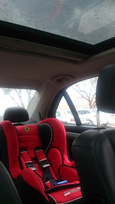 Ferrari car seat. Photo by Phindiwe Nkosi.