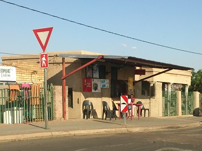 "Patrons relax at a ""roadside eatery"". Photo by Phindiwe Nkosi"