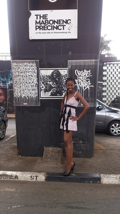 Phindiwe Nkosi at the Maboneng Precinct in Johannesburg. Photo by GC