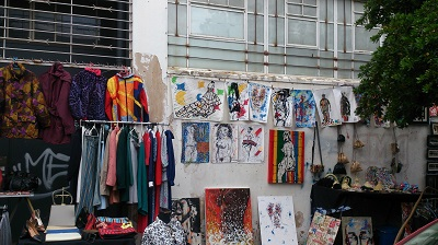 Merchandise for sale at Maboneng Precinct in Johannesburg. Photo by Phindiwe Nkosi