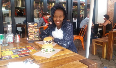 Phindiwe Nkosi at Roco Mamas, Irene Village Mall in Centurion. Photo by AB